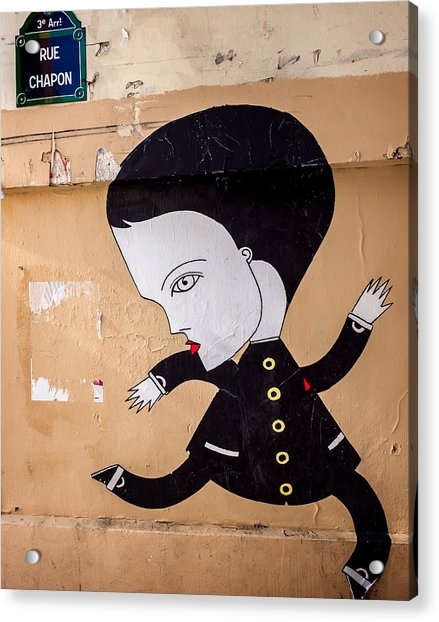 Big Head On Rue Chapon Acrylic Print