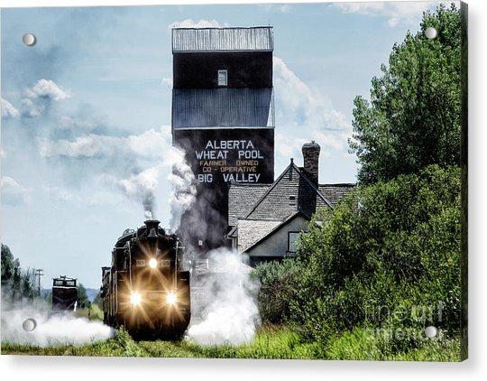 Big Valley Steam Acrylic Print