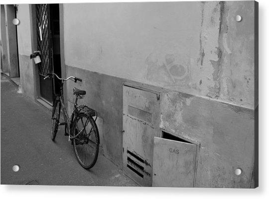 Bike In Alley Acrylic Print