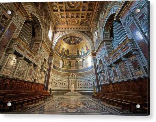 Bishop's Chair Rome Italy Acrylic Print