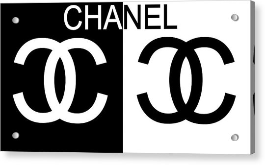Black And White Chanel 2 Acrylic Print