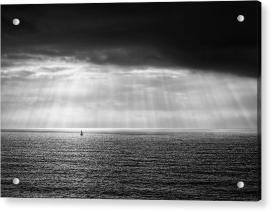 Acrylic Print featuring the photograph Black And White Seascape by Mirko Chessari