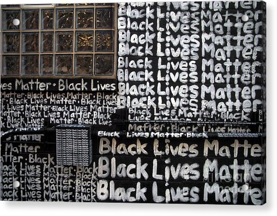 Black Lives Matter Wall Part 1 Of 9 Acrylic Print