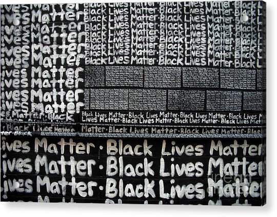 Black Lives Matter Wall Part 2 Of 9 Acrylic Print
