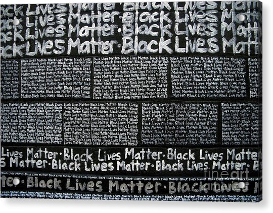 Black Lives Matter Wall Part 3 Of 9 Acrylic Print