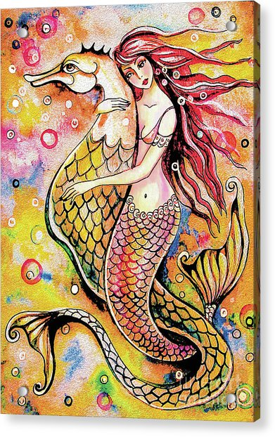 Black Sea Mermaid Acrylic Print