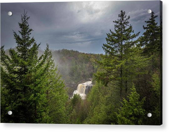 Blackwater Falls In Spring Acrylic Print by Michael Donahue