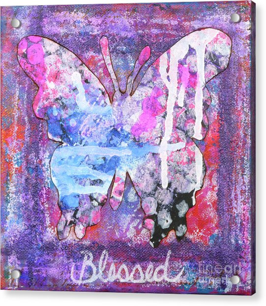 Blessed Butterfly Acrylic Print