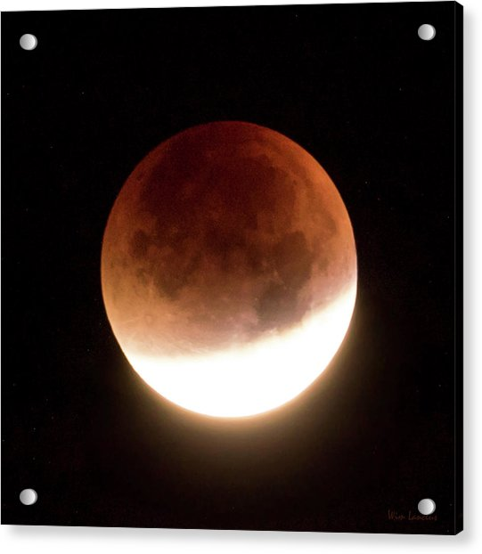 Blood Moon Eclipse Acrylic Print