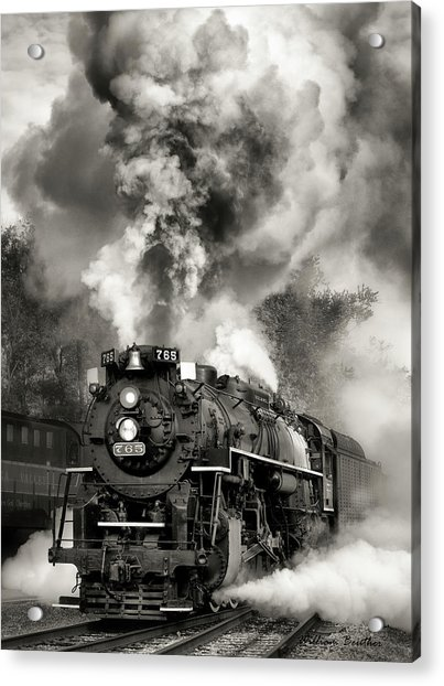 Blowing Its Stack Acrylic Print