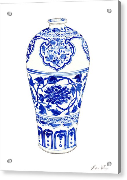 Blue And White Ginger Jar Chinoiserie 3 Acrylic Print