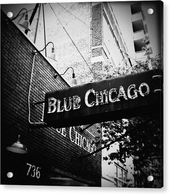 Blue Chicago Nightclub Acrylic Print