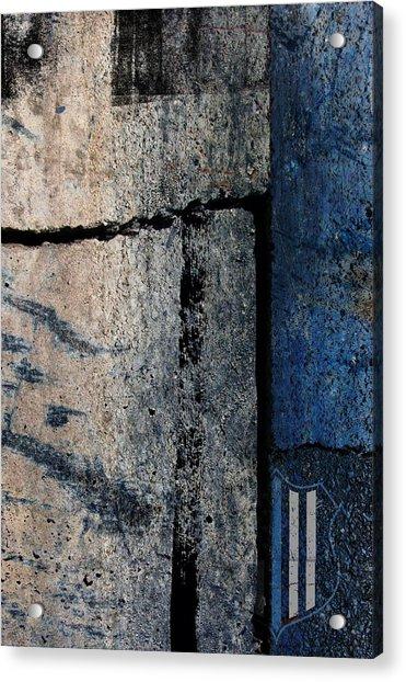 Blue Cop Trio Abstract #3 Acrylic Print