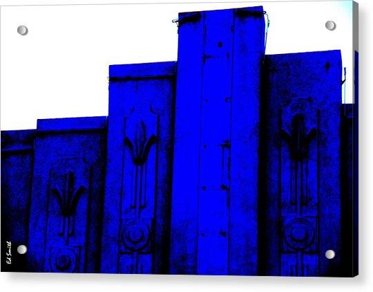 Blue Deco Acrylic Print