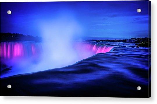 Acrylic Print featuring the photograph Blue Hour At Niagara Falls by Kevin McClish