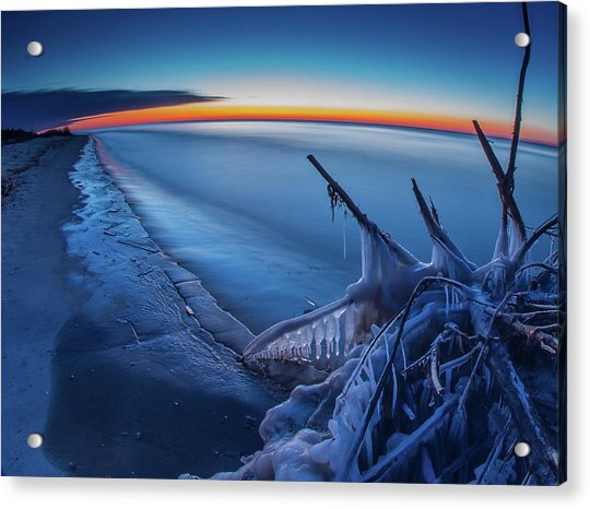 Blue Hour Fisheye Acrylic Print
