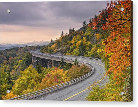 Lynn Cove Viaduct-blue Ridge Parkway  Acrylic Print