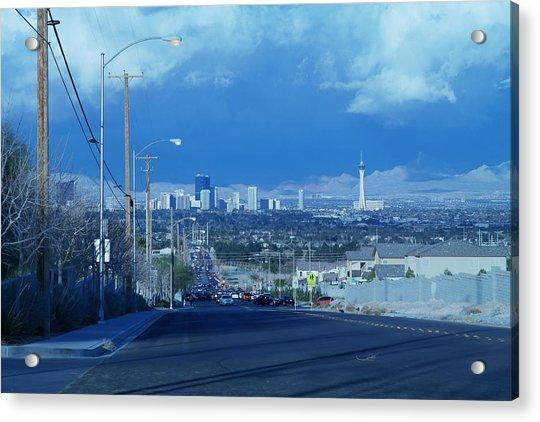 Blue Vegas Acrylic Print