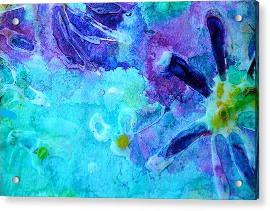 Blue Water Flower Acrylic Print
