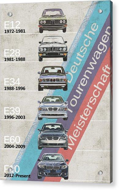 Bmw 5 Series - Bmw M5 - Generations - Bmw M5 Timeline Acrylic Print
