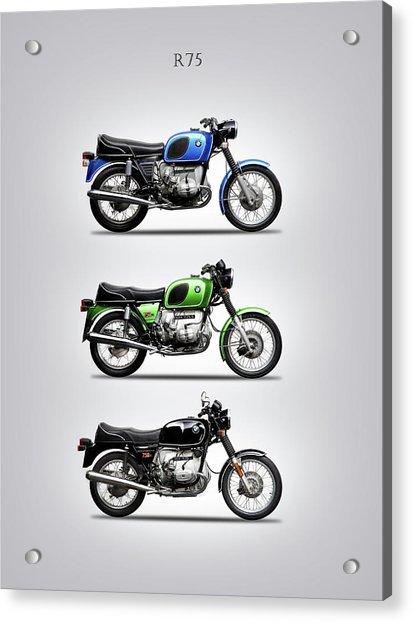 The R75 Motorcycle Trio Acrylic Print
