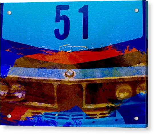 Bmw Racing Colors Acrylic Print