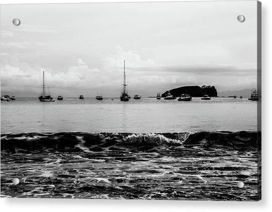 Boats And Waves 2 Acrylic Print