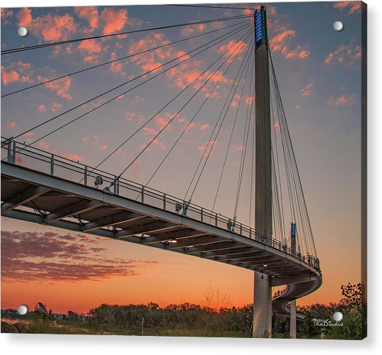 Bob Kerry Bridge At Sunrise-4 Acrylic Print