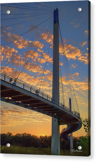 Bob Kerry Bridge At Sunrise Acrylic Print
