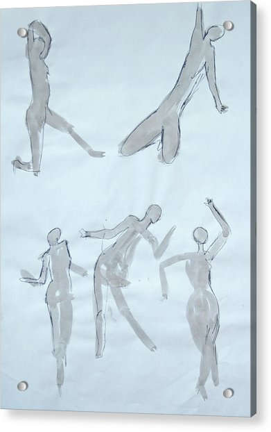 Body Sketches Acrylic Print