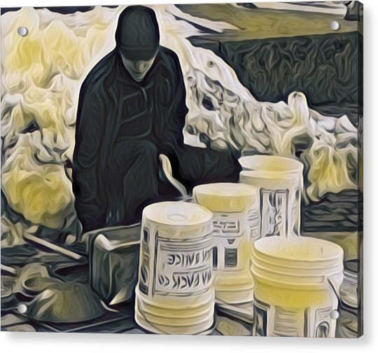 Boston Bucket Man Acrylic Print