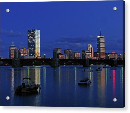 Boston City Lights Acrylic Print