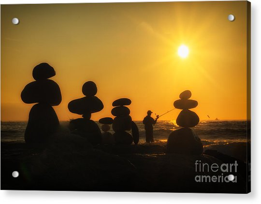 Boulders By The Sea Acrylic Print
