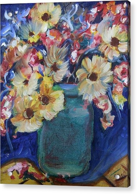Bouquet Flowers Of Blue  Acrylic Print