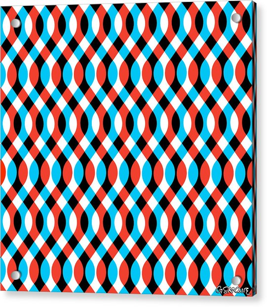 Brain Waves - Blue Acrylic Print