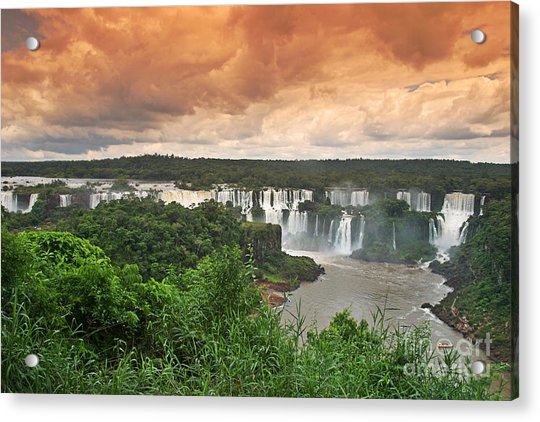 Acrylic Print featuring the photograph Brazil,iguazu Falls,spectacular View by Juergen Held