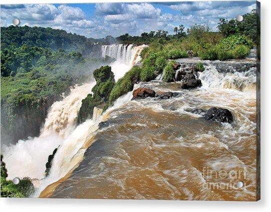 Acrylic Print featuring the photograph Brazil,iguazu Falls, by Juergen Held