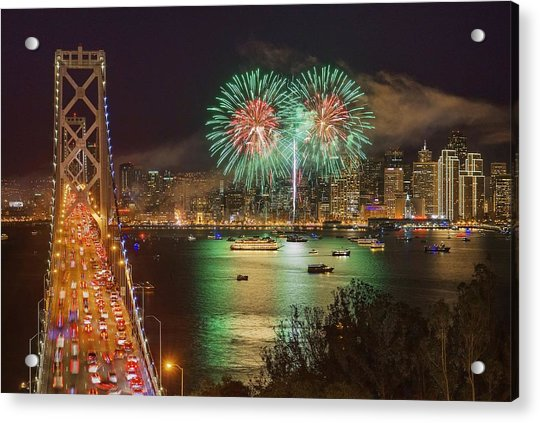 Breaking Rules On New Year's Eve Acrylic Print