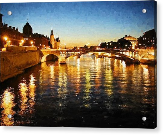 Bridge Over The Seine Acrylic Print