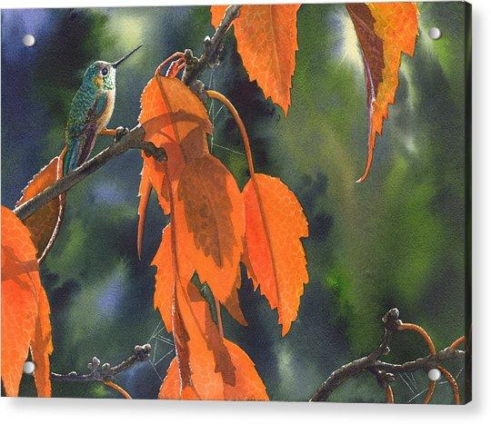 Bright Orange Leaves Acrylic Print