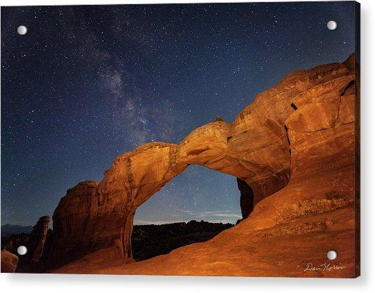 Broken Arch And Milky Way Acrylic Print