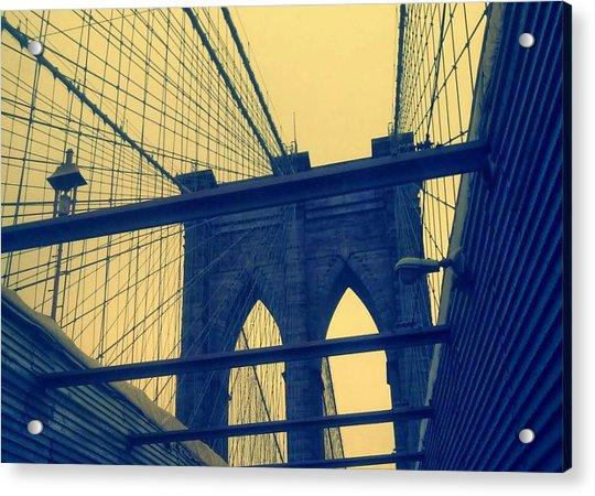 New York City's Famous Brooklyn Bridge Acrylic Print