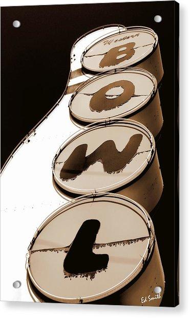 Brown Bowl Acrylic Print