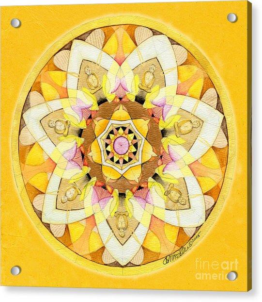Buddha Sun Mandala Acrylic Print