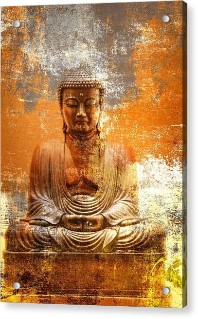 Acrylic Print featuring the photograph Budha Textures by Alice Gipson