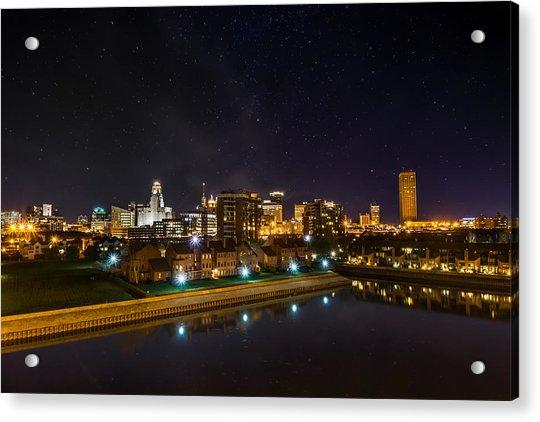 Buffalo Skyline Under The Stars Acrylic Print