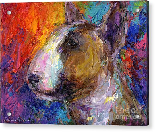 Bull Terrier Dog Painting Acrylic Print