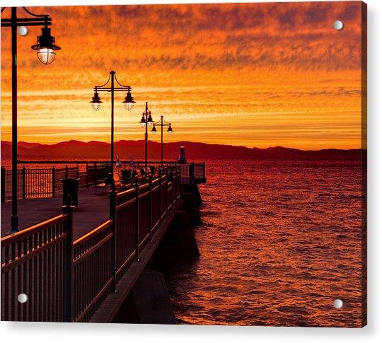 Burlington Sunset Acrylic Print