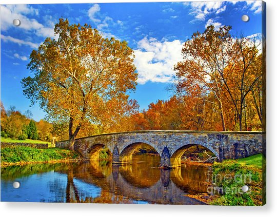 Burnside Bridge At Antietam Acrylic Print