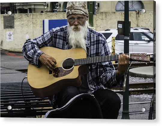 Busking In New Orleans, Louisiana Acrylic Print